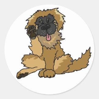 little Leo sticky Round Sticker