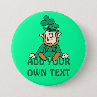 Little Leprechaun - Add Your Own Text 3 Inch Round Button