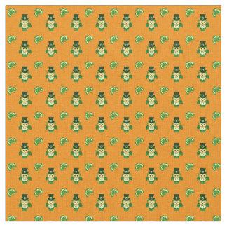 Little leprechaun owls Saint Patrick's day pattern Fabric