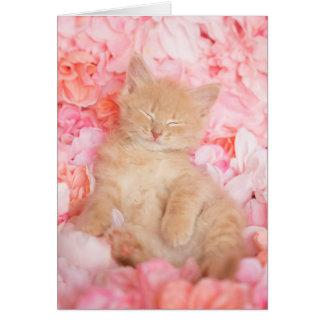 Little Linus Pink Floral Card