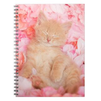 Little Linus Pink Floral Spiral Notebook
