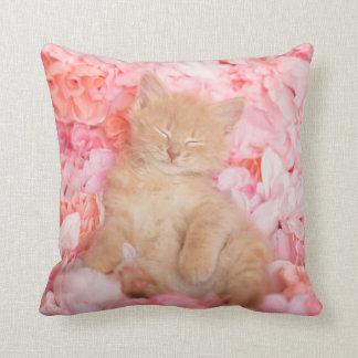 Little Linus Pink Floral Throw Pillow