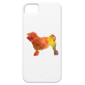 Little Lion Dog in Watercolor iPhone 5 Case