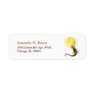 Little Lizard Cute Animal Address Labels
