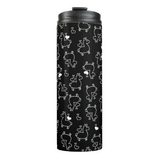 Little Llama Silhouette Madness Thermal Tumbler