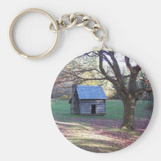little log cabin keychain