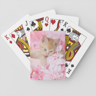 Little LOKI Pink Floral Playing Cards
