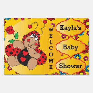 Little Love Bug Baby Shower Theme Sign