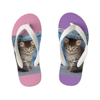 Little Lover Kitten/Cat Kid's Flip Flops