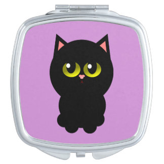 Little Lucky Black Cat Makeup Mirrors