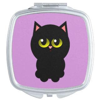 Little Lucky Black Cat Travel Mirror