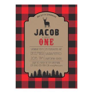 Little Lumberjack Buffalo Check Invitation