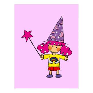 Little magician postcard