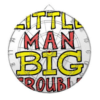 Little man big trouble kid design dartboard