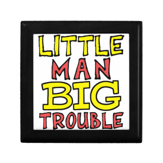 Little man big trouble kid design gift box