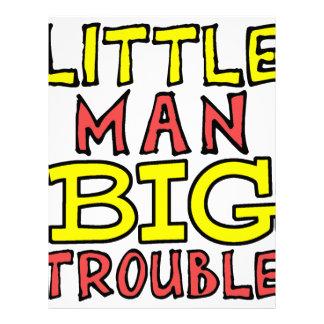 Little man big trouble kid design letterhead