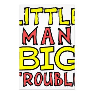 Little man big trouble kid design stationery