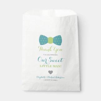 Little Man Bow Tie Favor Bag, Thank You Favour Bag