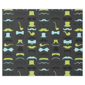 Little Man Hipster Mustache Birthday Party Wrapping Paper