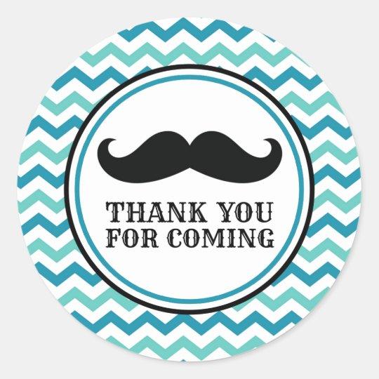 Little Man Moustache Baby Shower Stickers