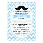 Little Man Moustache chevron Baby Shower Custom Invites