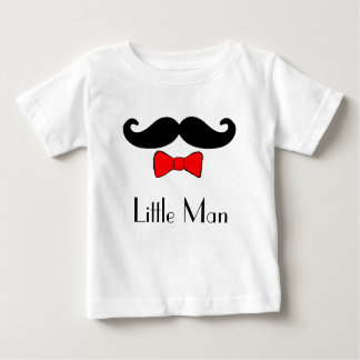 Little Man Mustache and Red Bowtie Baby T-Shirt