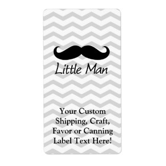 Little Man Mustache Chevron Cute Boys Shipping Label