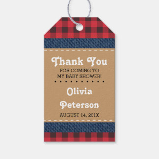 Little Man Thank You Tag, Lumberjack Gift Tags