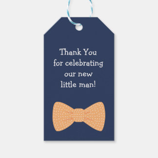 Little Man Themed Baby Shower Tags | Party Favor
