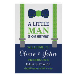 Little Man Welcome Sign Poster, Baby Shower