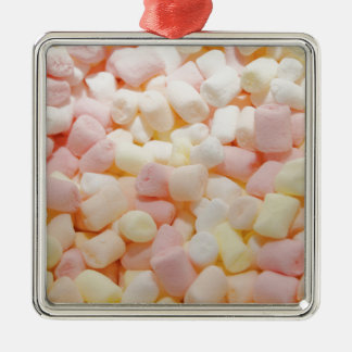 Little Marshmallows Silver-Colored Square Ornament