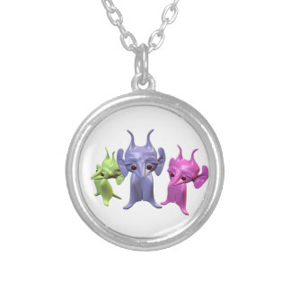 Little Martians Silver Plated Necklace