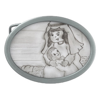 Little Mary and Baby Jesus - sketch Belt Buckle