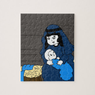 Little Mary and Jesus Jigsaw Puzzle