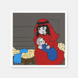 Little Mary and Jesus Paper Napkin