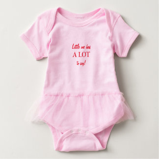 Little Me Has A LOT To Say! Baby Bodysuit