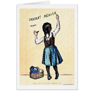 Little Menier Chocolat Girl Card