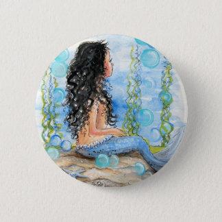 Little Mermaid Blue Design 2 Inch Round Button