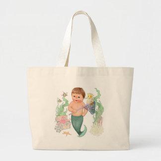 Little Mermaid - Boy Large Tote Bag
