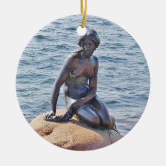 Little Mermaid Copenhagen Circle Ornament