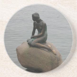 Little Mermaid Copenhagen Coasters