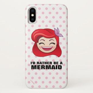 Little Mermaid Emoji | Princess Ariel - Happy iPhone X Case
