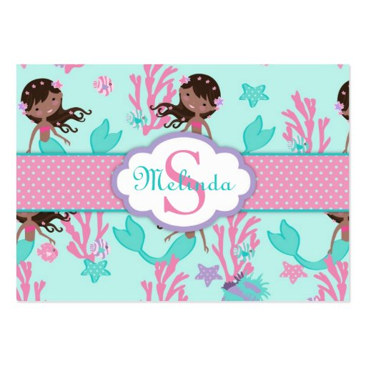 Little Mermaid Gift Tag L2 AA Business Cards