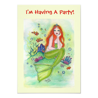 Little Mermaid Party Invitations By Renee Lavoie