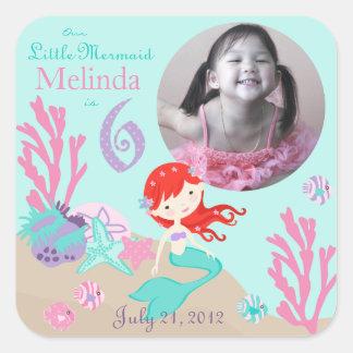 Little Mermaid Photo Sticker Auburn 6