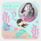 Little Mermaid Photo Sticker Brunette 2