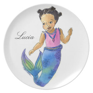 Little Mermaid Plate customized with name