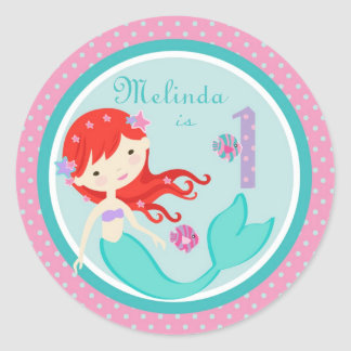 Little Mermaid Sticker Auburn 1B