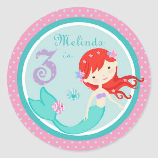 Little Mermaid Sticker Auburn 3