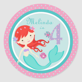 Little Mermaid Sticker Auburn 4B